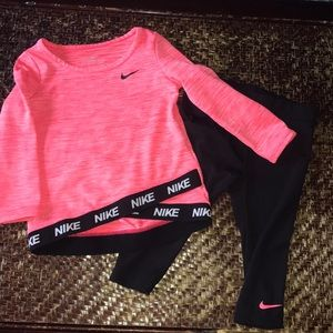 Nike Baby Girl Dri-fit Outfit, 2 piece